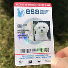 EMOTIONAL SUPPORT DOG ID CARD ANIMAL ESA BADGE WITH + ONLINE REGISTRATION