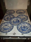 Wedgwood China - 1927 Harvard University - Set of 7 Blue Collector Dinner Plates