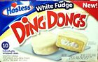 1 Box Hostess White Fudge DING DONGS- New- 10 count