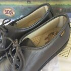 SAS Oxfords Size 8 N Slip On Loafers Womens Leather Lace Up Pewter New