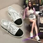 Hot Sale Womens Canvas Breathable Casual Lace Up Fashion Sneaker Leisure Shoes 8