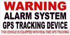 4 Clear Warning Alarm System Gps Tracking Device Theft Car Truck Window Decal