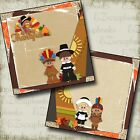 THANKSGIVING NPM 2 Premade Scrapbook Pages EZ Layout 2662