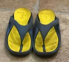 CROCS Sandals Kids Youth Size 12 13 Blue Yellow Flip Flops