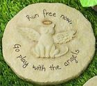 Cat Remembrance Garden Stone Marker Memorial Pet Stepping Angel Grave Tombstone