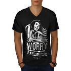 Bob Marley Dont Worry Men V-Neck T-shirt NEW | Wellcoda