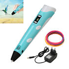 3D Print Pen 2nd Crafting Doodle Drawing Arts Printer Model PLA/ABS LED Display