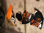 Plastic Fairings Orange Fender Kit KTM 250 SXF 250SXF 125-505 Body Fenders