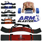 BICEP ARM BLASTER BAR CURL BODYBUILDING TRAINING FITNESS WEIGHT LIFTING ARMS