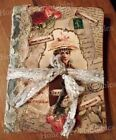 Victorian Primitive Hand Crafted Journal Diary Tuck Valentine Lace Love Letters