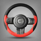 For Jeep Wrangler Car Steering Wheel Cover DIY Hand stitched Car Interior Case