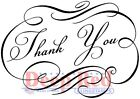 Deep Red Stamps Essentials Fancy Thank You Rubber Cling Stamp