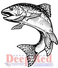 Deep Red Stamps Rainbow Trout Rubber Cling Stamp