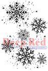 Deep Red Stamps Snowflake Background Rubber Cling Stamp