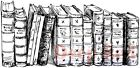 Deep Red Stamps Old Books Border Rubber Cling Stamp
