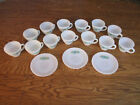 Lot of Vintage Fire King Flower Designed Premium 13 Teacups and 3 Saucers (6