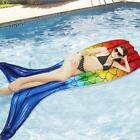 Floating Air Mattress for Swimming Pool and Beach Colorful Mermaid Tail Funy Toy