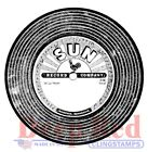 Deep Red Stamps Vintage 45 Record Rubber Cling Stamp