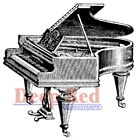Deep Red Stamps Baby Grand Piano Rubber Cling Stamp