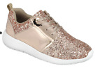 Girls Fashion Glitter Sneaker Shoes Rose Gold New in Box