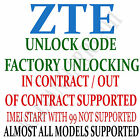 Unlock Code T Mobile Prepaid ZTE Zinger No Contract Cell Phone
