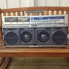 Sharp GF-767 Z BOOMBOX Double Cassette Player Super Rare Model Vintage 1980s