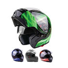 Modular Helmet Flip Up Dual Visor Motorcycle Adult DOT