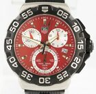 Tag Heuer Formula 1 CAH1112 Quartz 41mm Red Steel Rubber Sport Chronograph Watch