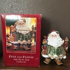 Rare Fitz And Floyd Jolly Ole St. Nick Christmas Large Cookie Jar