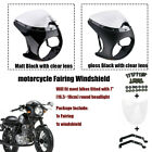 7'' Round Retro Motorcycle Headlight Fairing Body Screen Windshield Universal