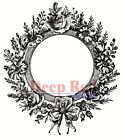 Deep Red Stamps Rose Frame Rubber Cling Stamp