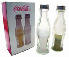 Coca Cola Glass Salt And Pepper Shakers Pots New  Official In Picture Box