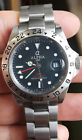 Alpha BLACK Dial Red Letter Explorer II GMT Automatic