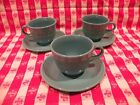 Homer Laughlin Fiesta Turquoise Cup and Saucer; 3 Set lot
