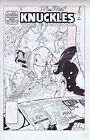 KNUCKLES THE ECHIDNA 19 ORIGINAL COVER ART SIGNED BY KEN PENDERS