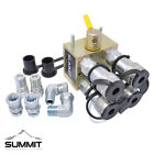 Manual Hydraulic Multiplier Diverter Valve Kit w 3 8 ISO B Couplers