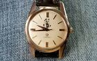 Rare 1961 Omega Seamaster Automatic Watch Rose Gold Capped King of Bahrain