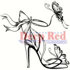 Deep Red Stamps Butterfly Fashion Rubber Cling Stamp