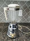 Vintage Mid Century Osterizer Imperial Chrome Base Bee Hive Style Blender Glass