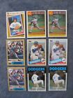 TOPPS TIFFANY FERNANDO VALENZUELA CARDS 1985 1986 1987 Card LOT Dodgers Limited