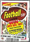 1984 Topps Football Cello Pack (Tony Collins Instant Replay on Top)
