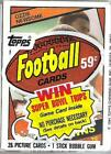 1984 Topps Football Cello Pack Ozzie Newsome on top