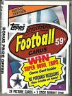 1984 Topps Football Cello Pack (Rafael Septien on Top)