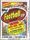 1984 Topps Football Cello Pack Ozzie Newsome