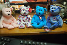 Ty Beanie Baby – Lot of 4 Bears – Cure, Jack, Addison, Periwinkle