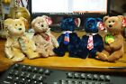 Ty Beanie Baby  - Lot of 5 Bears – Dad-e, Pops (USA & Canadian Tie), Bandage....