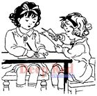 Deep Red Stamps Crafty Girls Rubber Cling Stamp