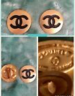 CHANEL Vintage CC COCO Clip Earrings Gold