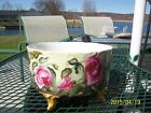 C Large Footed Ferner/Jardiniere/Vase Gorgeous Red/White/Pink Roses