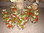 Vintage Anchor Hocking Strawberry Drinking Glasses (8) In all  Great Colors!!!